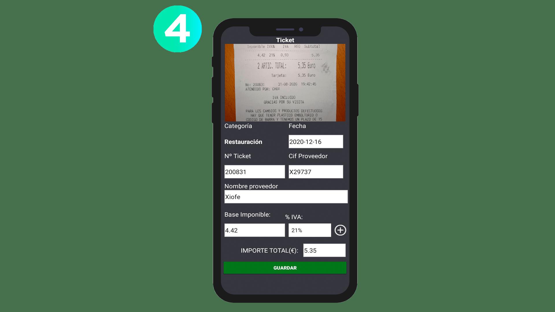 Captura digitalización ticket