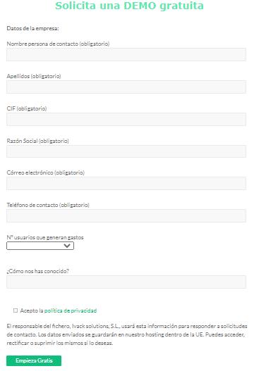 formulario empresa
